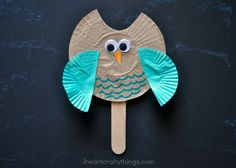We are continuing our love of bird crafts this week and are sharing this adorable Cupcake Liner Owl Puppet Kids Craft today. They are super, duper simple to make and the kids will have a hoot playing with them as puppets. We used solid color cupcake liners for wings, but you can always get fancy …