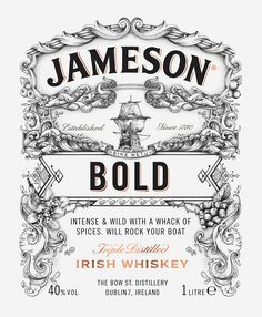 Jameson Whiskey - Deconstructed Series 'BOLD' by Greg Coulton Follow us on Instagram: @betype