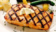 Simple grilled salmon :: Diabetes Self-Management Other Recipes, New Recipes, Diabetic Recipes, Low Carb Recipes, Reverse Diabetes Naturally, Lemon Salmon, Healthy Grilling, Grilled Salmon