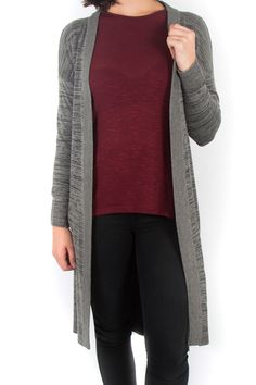Ice Express Long Knit Cardigan Long Knit Cardigan, Tan Boots, Denim Skinny Jeans, White Tees, Latest Trends, Womens Fashion, Fashion Trends, Ice, Suits