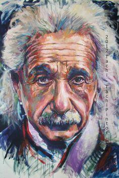 Albert Einstein Relativity Philosopher Physicist Fine Art Print Portrait Albert Einstein Pictures, Portrait Art, Portraits, Kids Collage, E Mc2, Arte Pop, Proverbs 31, Doodle Art, Famous People