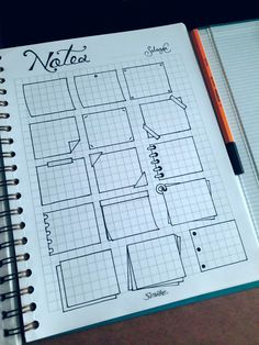 I just came across with the idea of starting my own bullet-doddled notebook-agenda so these are some taking notes patterns I've seen around and others I came up with.