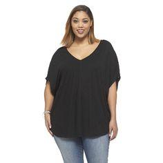 Women's Plus Size Short Sleeve Pullover Top-Ava & Viv
