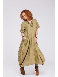 Платья Kayros. Цвет оливковый.