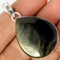 Black Sheen 925 Sterling Silver Pendant Jewelry BLSP137