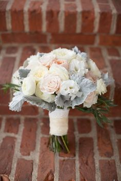 Wintery Wedding Bouquets With Dusty Miller Additions   Team Wedding Blog
