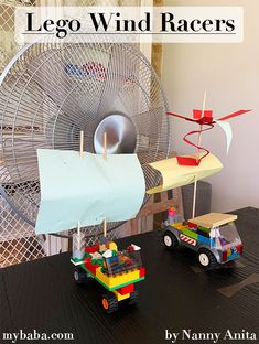 Lego Wind Racers: Stem Challenge | Nanny Anita | My Baba Stem Activities, Educational Activities, Hand Held Fan, Stem Challenges, Bright Future, Lego Pieces, Sensory Play, Fun Things, Kids