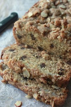 Chocolate Banana Bread with Almond Streusel    by anniescitykitchen