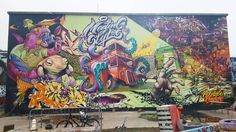 The #meetingofstyles mural still looking fresh.  #nomadiccommunitygardens #londonstreetart #streetartistry #streetartlondon #graffiti #londongraffiti #instagraff #graffitilovers #graffiti_of_our_world #total_urbanart #tv_streetart #ldncallingblog #ig_graffiti #streetart_daily #ukstreetart #urbanart #wallporn #graffitiporn #streetarteverywhere #streetartphotography #streetartandgraffiti #streetartphotographer #streetartlovers