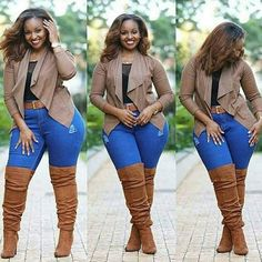 "45 Casual and Comfy Plus Size Fall Outfits Ideas - ADDICFASHION - The great English thinker and statesman, Francis Bacon, says: ""Property is like crap. Curvy Outfits, Mode Outfits, Fall Outfits, Fashion Outfits, Womens Fashion, Ladies Fashion, Fashion Scarves, Fall Dresses, Fashion 2017"