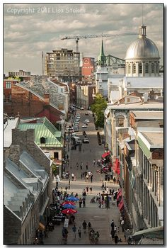 Rue St. Paul, Montreal, Quebec, Canada | From the Rooftop by Lisa-S, via Flickr