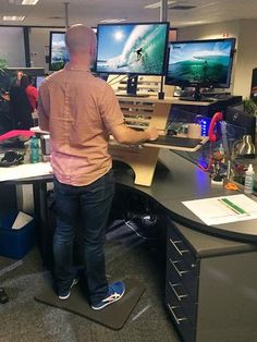 MegaX3 Standing Desk by TheDeskStand on Etsy More