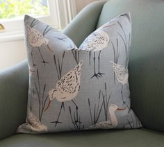 Seabirds Cushion Pillow Covers 20 inch by Aurelia6311 on Etsy