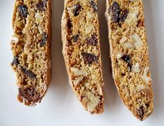 Biscotti flavored with anise and orange zest and full of figs and walnuts. Very festive and gift-worthy. Biscotti Flavors, Biscotti Cookies, Fig Biscotti Recipe, Almond Cookies, Chocolate Cookies, Italian Fig Cookies, Italian Desserts, Cookie Desserts, Cookie Recipes