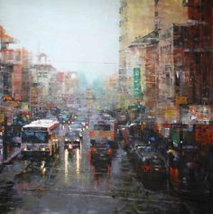 Chinatown Showers by Mark Lague (shown below) was awarded 3rd Place in the April 2012 BoldBrush Painting Competition and was selected as a Finalist in the April 2012 RayMar Art Painting Competition.