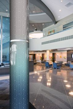 Interior Design, Architecture Inspiration, Hotel Design, Contemporary Modern Column Covers by Móz Designer Metals in Aurora Cosmos-Fog - Inviting Imagination #InvitingImagination #ColumnCovers #MozDesignerMetals
