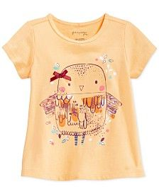 First Impressions Baby Girls' Owls T-Shirt, Only at Macy's