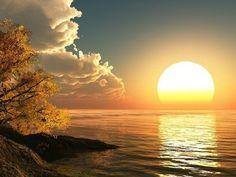 magnifique coucher de soleil                              …