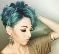 teal green pixie