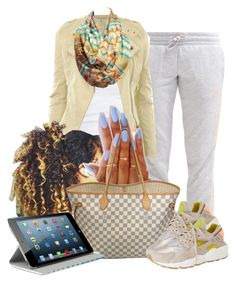 """""""10-16-15"""" by janay1206 ❤ liked on Polyvore featuring adidas, CO, Louis Vuitton, NIKE and Agent 18"""