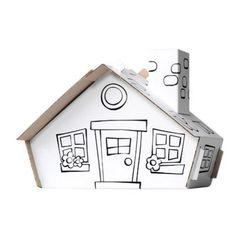 Kleur je eigen huisje - http://credu.nl/product/kleur-je-eigen-blokhut/