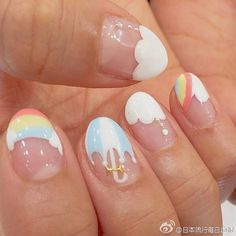 💛 art line desenhosanimados pictures forwork pink sea healthy nachtisch sandwich Kawaii Nail Art, Cute Nail Art, Cute Nails, Pretty Nails, Best Acrylic Nails, Acrylic Nail Designs, Easy Nail Art Designs, Pedicure Nail Art, Gel Nails