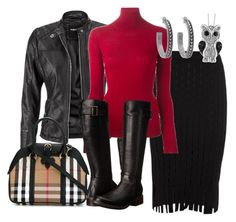 """""""Svart med rødt."""" by inger-lise on Polyvore featuring maurices, Alexander Wang, Ermanno Scervino, Gabriella Rocha, Burberry, Target and House of Harlow 1960"""