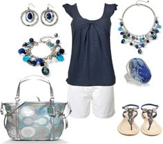 Blue Summer, created by kim-cromartie-andrews on Polyvore