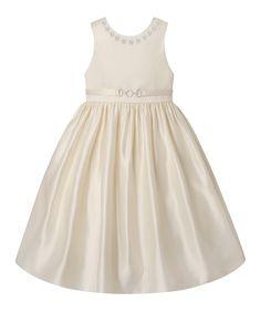 Candlelight Stud Belt A-Line Dress - Toddler & Girls
