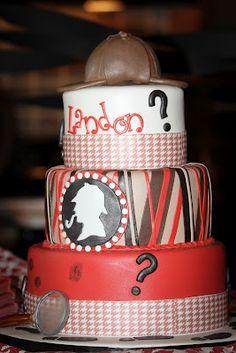 Living Life Abundantly: Landon's First Birthday {Sherlock Holmes Birthday Party}