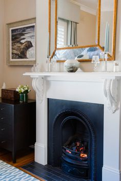 Traditional fireplace design in living room | Jessica Buckley Interiors