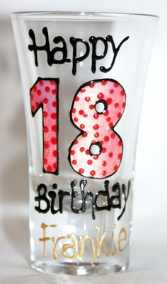 A fab birthday gift in a shot!    www.smashingglassdesigns.co.uk