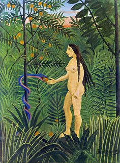 Henri Rousseau - Eve and the serpent (1907)