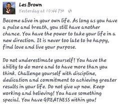 Become alive in your own life!
