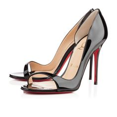 Christian Louboutin Tobaggan 100Mm Black Patent Women Sandals