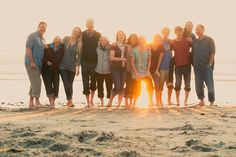 I like the lighting, lower angle, and more rustic colors...large family session, and beach.