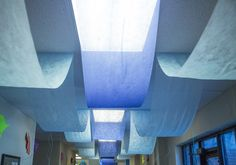 Decorate ceilings with varieties of blue gossamer at Ocean Commotion VBS! #vbs2016