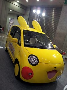 Pikachu tuning car - this would be fun to take to a track day. Haha