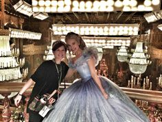 Cinderella at the set