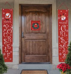 Christmas Decorations By BlueFire Decor Outdoor Banners – Bright Merry Christmas Banner Indoor Outdoor - Front Porch Door Signs – Strong Door Christmas Decorations For The Home - Porch Decor Outside Merry Christmas Banner, Christmas Wood Crafts, Christmas Decorations For The Home, Christmas Makes, Diy Halloween Decorations, Christmas Signs, All Things Christmas, Christmas Holidays, Christmas Wreaths