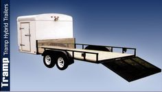 Tramp Hybrid Trailer is perfect for your routine cargo hauling needs. It can also take care of your light utility and landscaping needs also. Cargo Trailers For Sale, Atv Trailers, Off Road Camper Trailer, Equipment Trailers, Custom Trailers, Work Trailer, Trailer Plans, Trailer Build, Utility Trailer