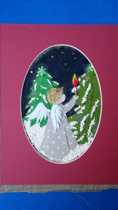 Kanwa, filc, karton, pasta strukturalna na śnieg farba plakatowa to pomalowania kanwy