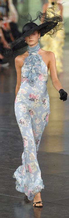 Ralph Lauren ~ Summer Floral Halter Maxi Dress 2008