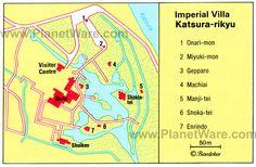 Map of Imperial Villa - Katsura Rikyu | PlanetWare