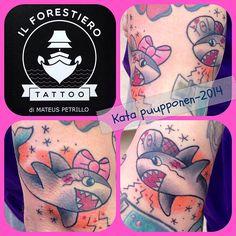 https://www.facebook.com/VorssaInk, http://tattoosbykata.blogspot.fi, #tattoo #tatuointi #katapuupponen #vorssaink #forssa #finland #traditionaltattoo #suomi #oldschool #pin up #shark
