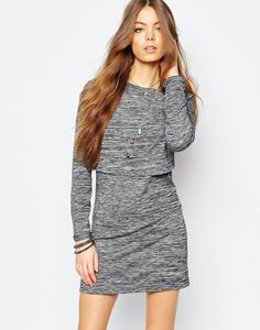 Brave Soul Long Sleeve Jersey Dress With Cross Back, $38 | 39 Long Sleeve Dresses For Women Whose Arms Are Always Cold