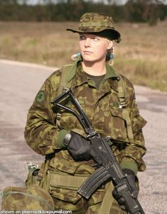 Estonia Female Soldier