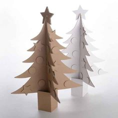 We are already talking about Christmas packaging! our production team begin to produce box upon box of Christmas packaging. Cardboard Tree, Cardboard Christmas Tree, Cardboard Letters, Unique Christmas Trees, Alternative Christmas Tree, Christmas Origami, Christmas Makes, Christmas Art, Handmade Christmas