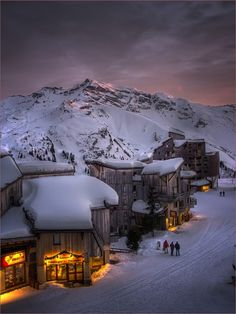 Alpine Glow Sunset, Trois Vallées, The French Alps  photo via icasper