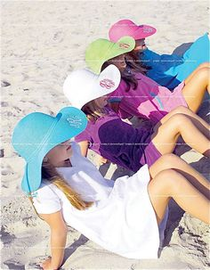 FLOPPY MONOGRAMMED SUNHATS -10 COLORS  Order online at: http://www.thepinkbox.com/products/wide-brim-monogram-sun-hat